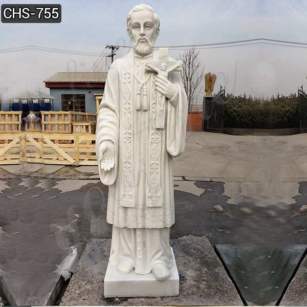 Best Quality White Marble St Peter Statue for Garden Supplier CHS-755
