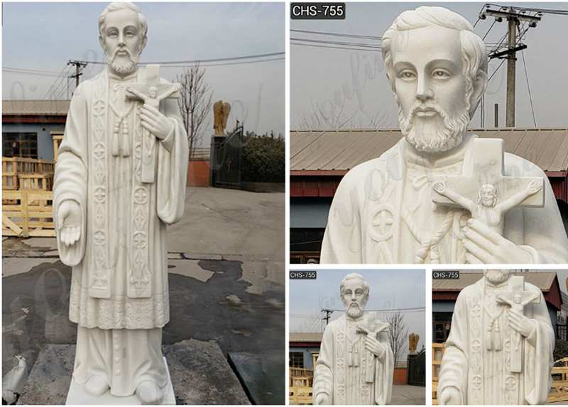 Best Quality White Marble St Peter Statue for Garden