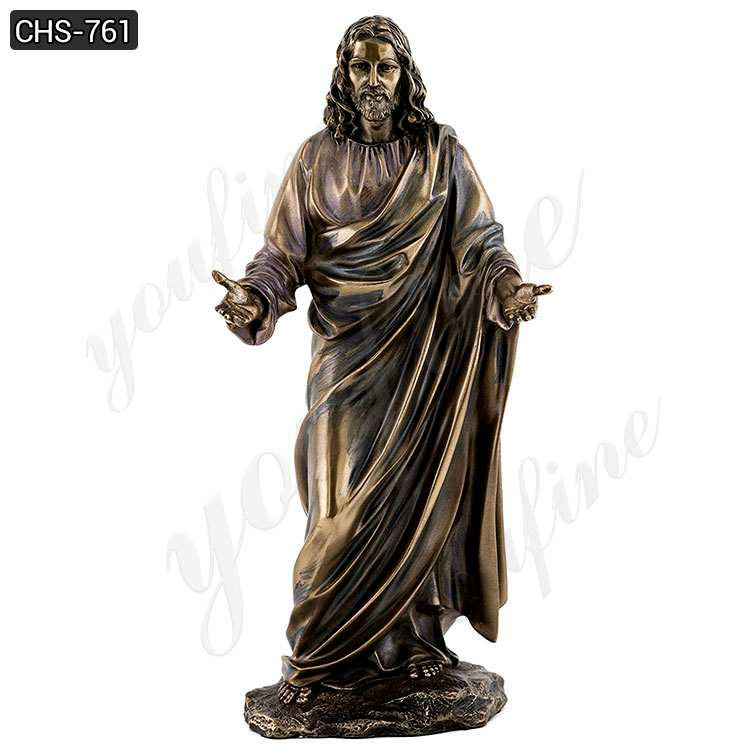Buy Jesus Large Bronze Statues in Meditation with Hands Open  CHS-761