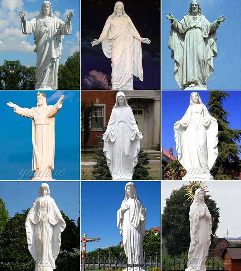 Church Religious Marble Life Size Jesus Statue for San Lorenzo Decor