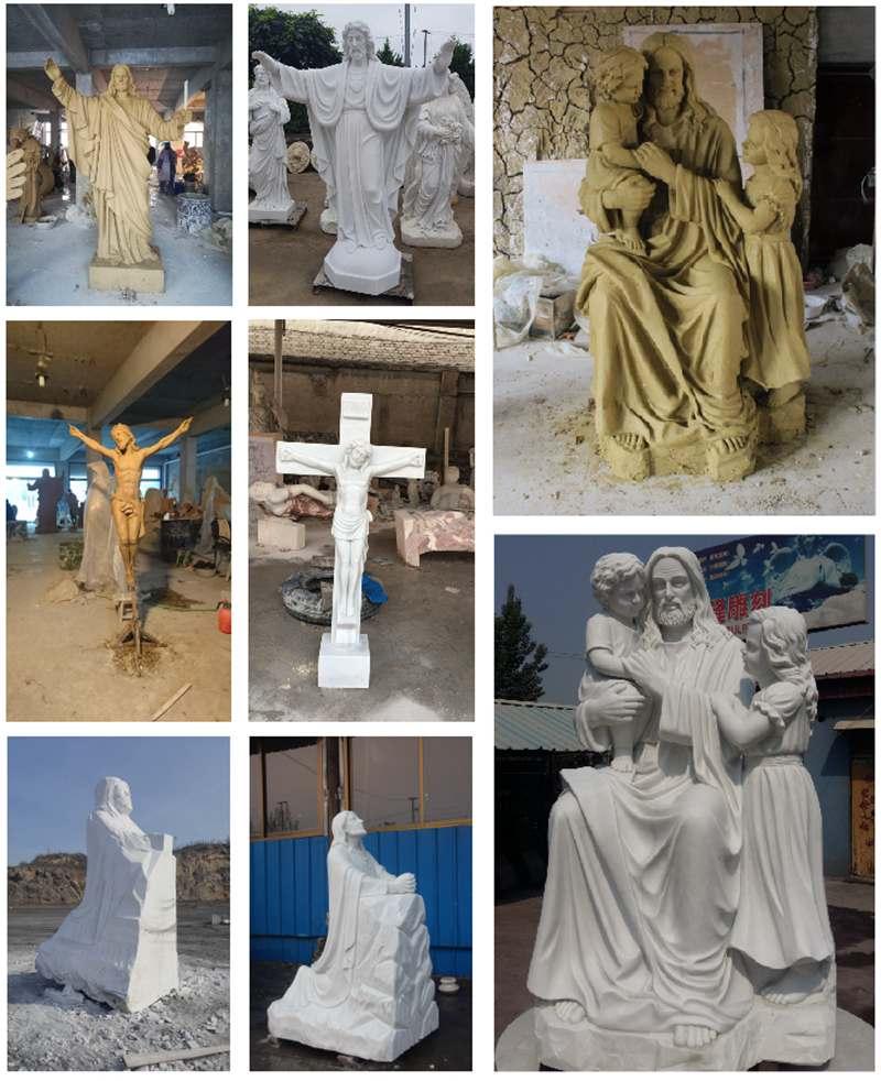 Church Religious Marble Life Size Jesus Statue