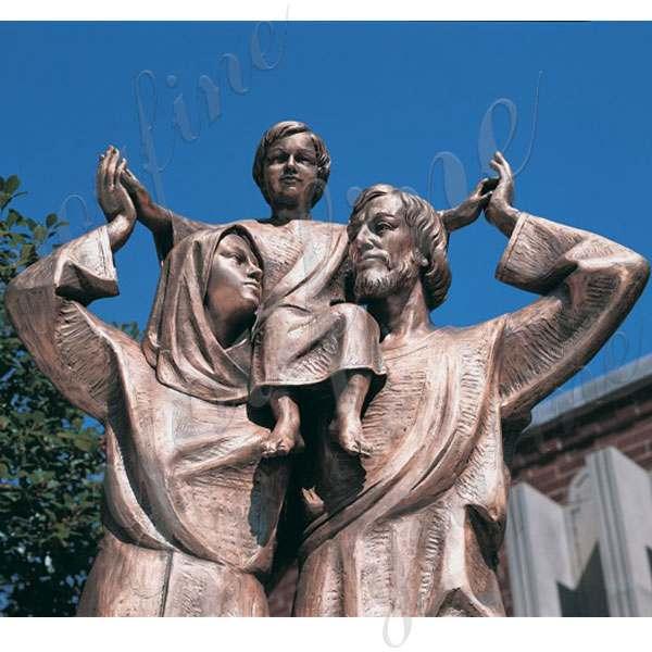 Decoration Religious High Quality Bronze Holy Family Statue BOKK-602