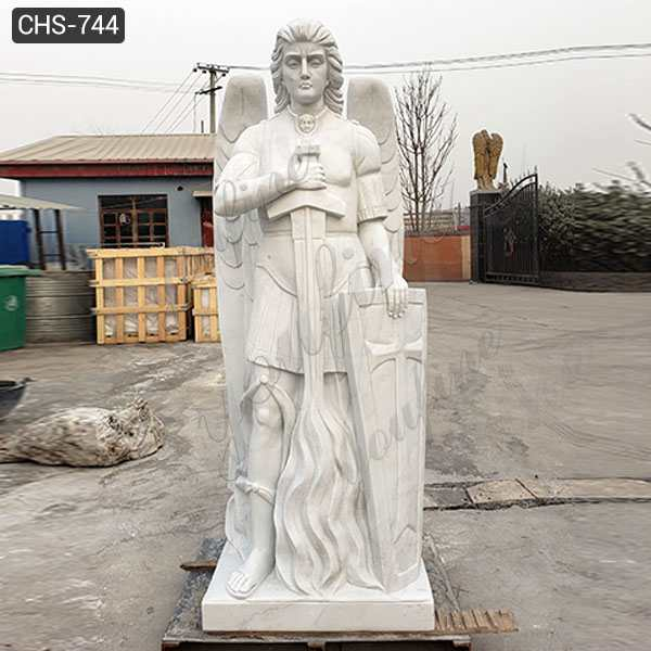 High-quality Outdoor Marble Archangel St Michael Statue from China Factory CHS-744