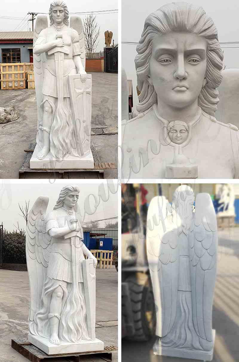 Marble Archangel St Michael Statue