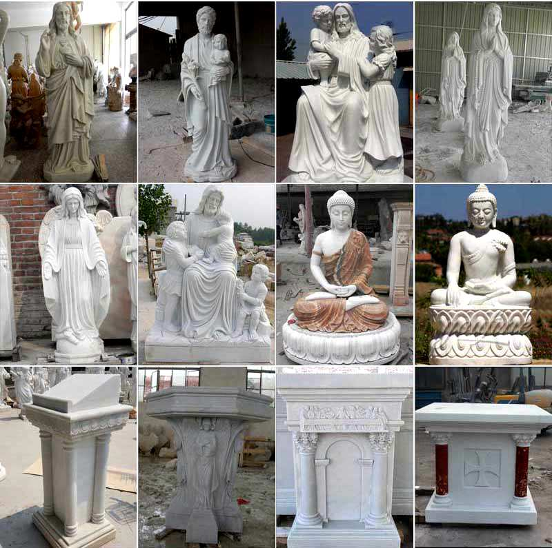 White Marble St Peter Statue for Garden Supplier