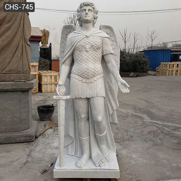 Marble Archangel Michael Statue Guardian Angel Statues for Sale CHS-745