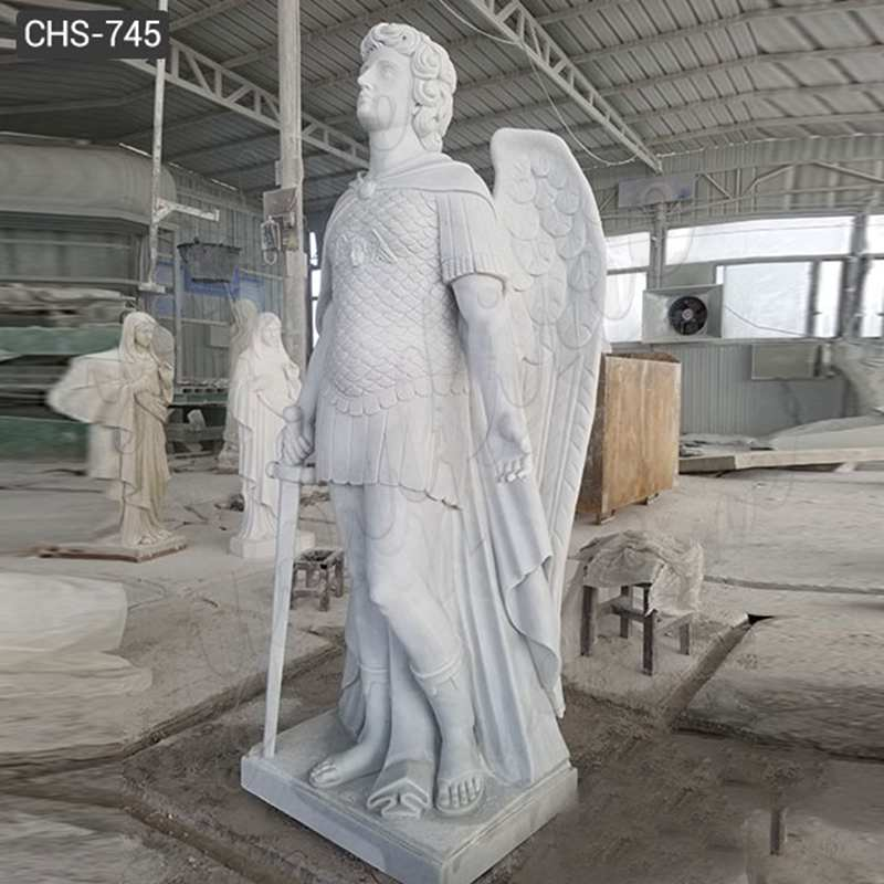 Marble Archangel Michael Statue Guardian Angel Statues