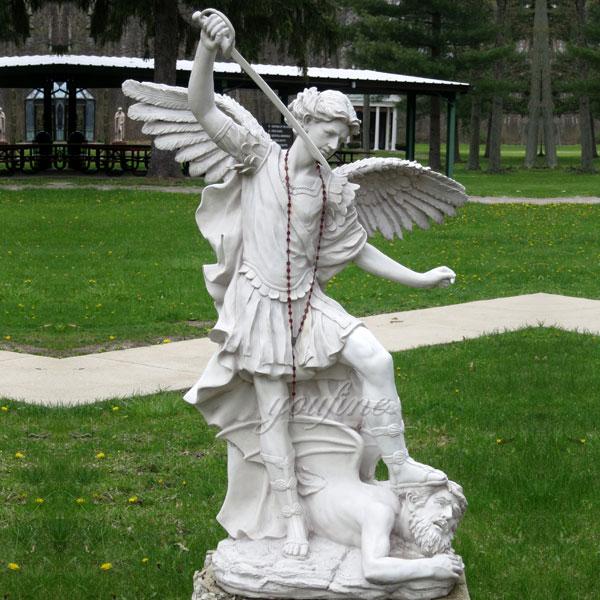 Life Size Casting Saint Archangel Marble Religious Statue Supplier CHS-743