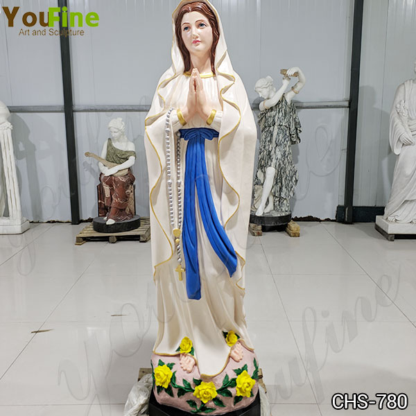 Customized Blessed Our Lady of Lourdes Marble Statue Supplier CHS-780