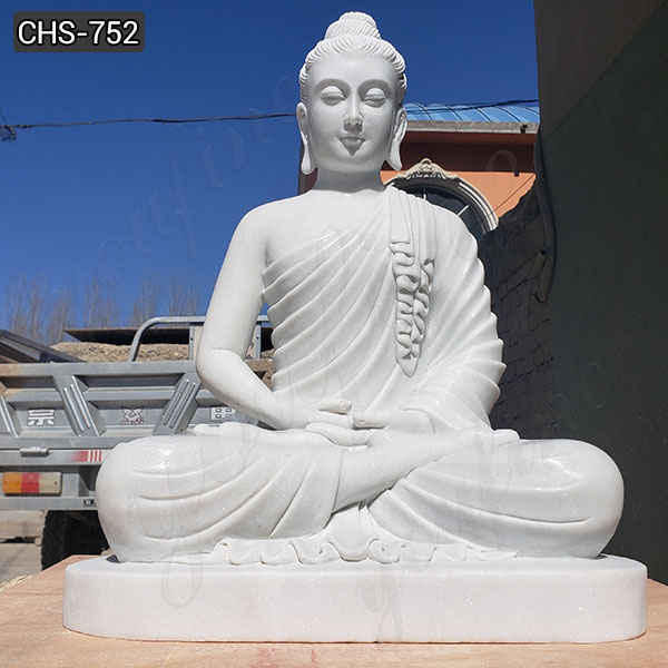 High-polished Religious White Marble Buddha Statue Manufacturer CHS-752