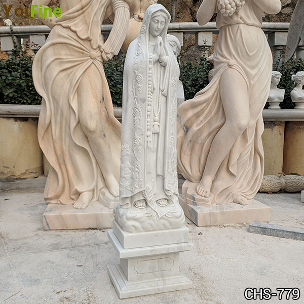 Life Size Religious White Marble Mother Mary Statue from Factory Supply CHS-779