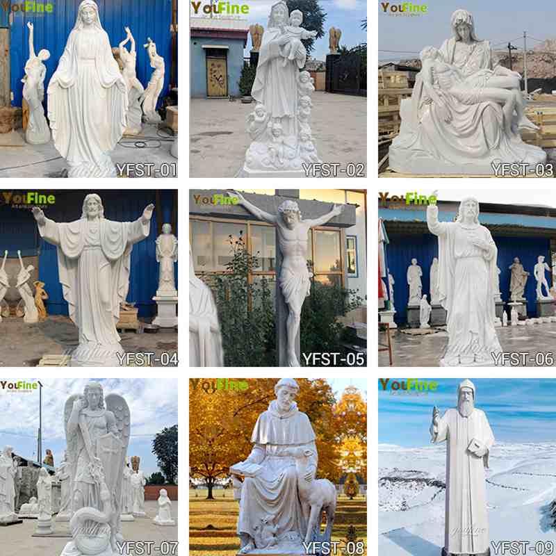 St. Francis Marble Sculpture