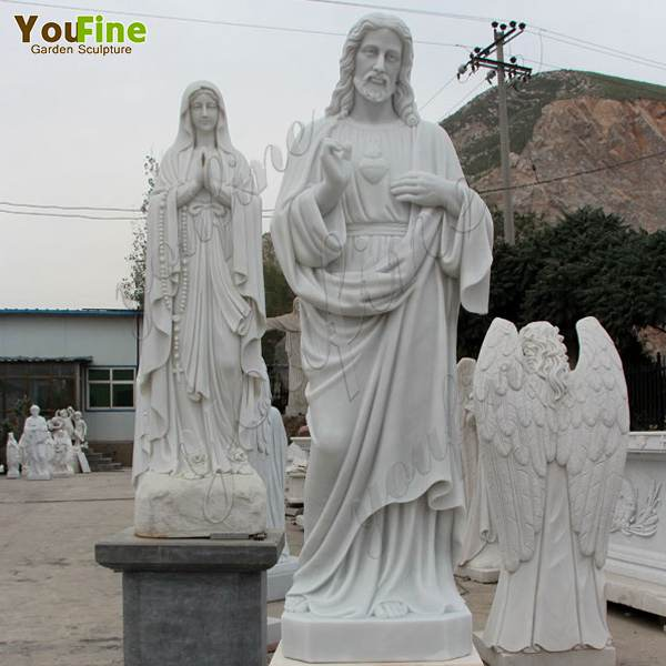 Custom Made Life Size White Marble Jesus Statue for Our Ukrainian Client