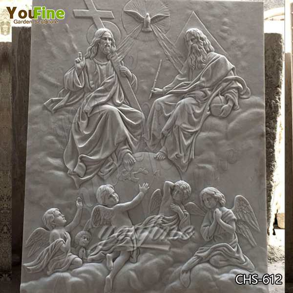 Hand Carved White Marble Holy Trinity Reliefs with Competitive Prices CHS-612