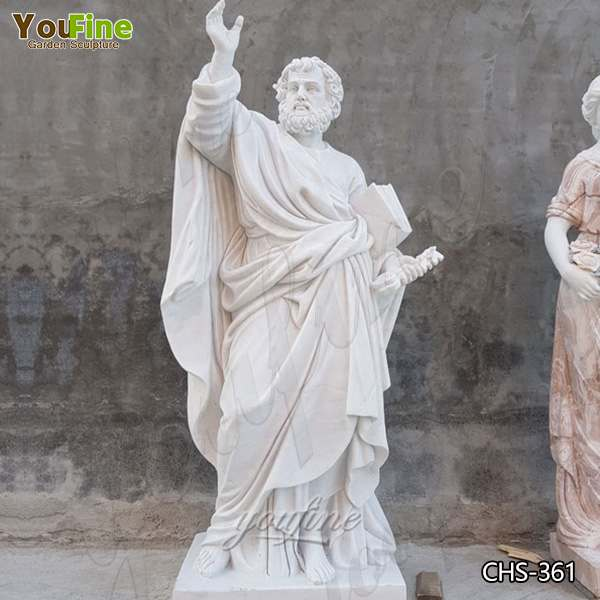 How to Buy Hand Carved White Marble Saint Peter Statue for Church CHS-361