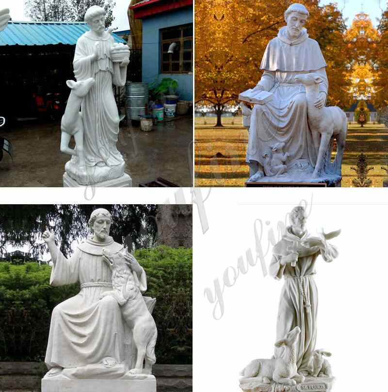 Life Size Marble St Francis Statue