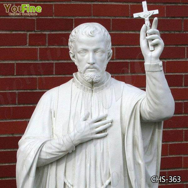 Life Size Religious Marble Statue of St. Francis Xavier with Competitive Price CHS-363