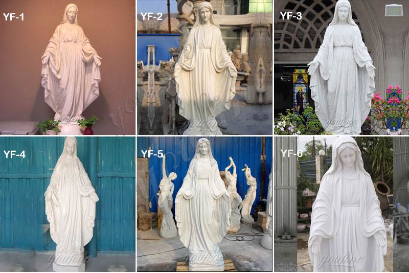 Marble Blessed Mother Statue