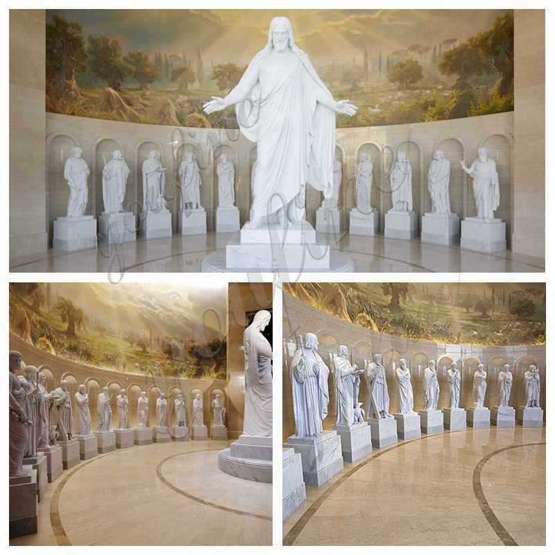 Outdoor Marble Blessed Mother Statue