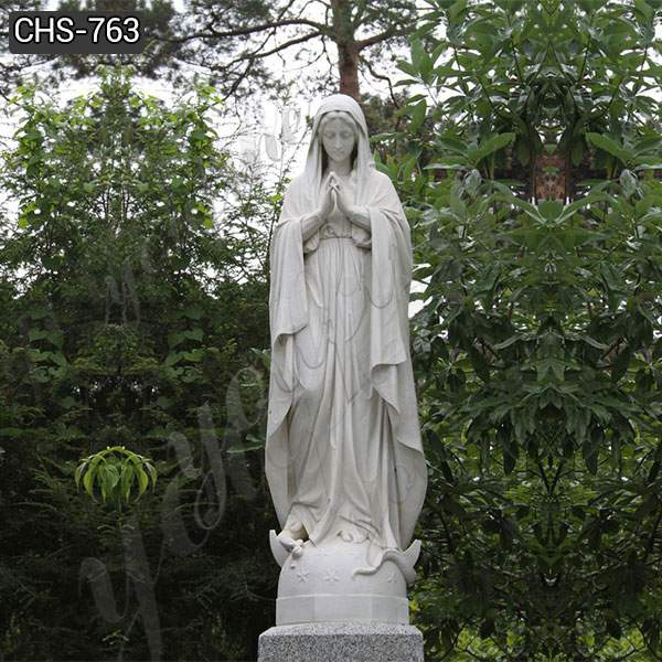 Outdoor Ornamental Marble Blessed Mother Statue for Sale CHS-763